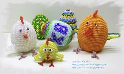 Пасхальные яйца из бисера и другие подарки к Пасхе