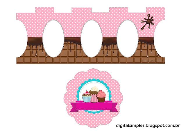 Chicas Haciendo Cupcakes: Stand para Cupcakes para Imprimir Gratis.