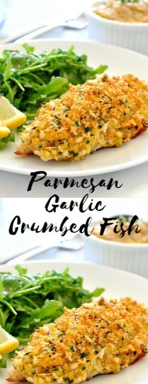 Parmesan Garlic Crumbed Fish