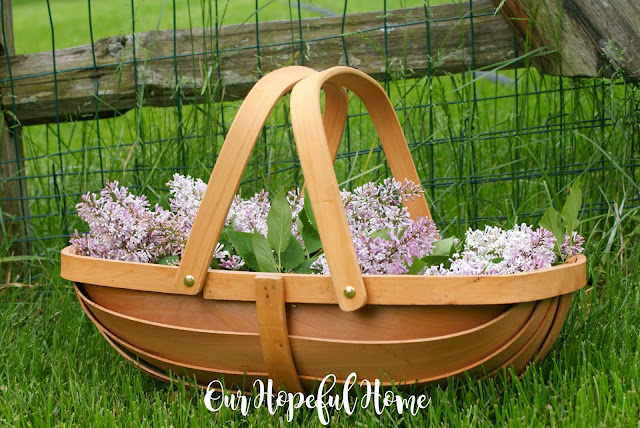 farmhouse decor decorating garden trug flowers Sussex