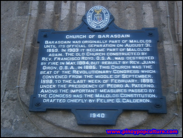 Barasoain Church marker