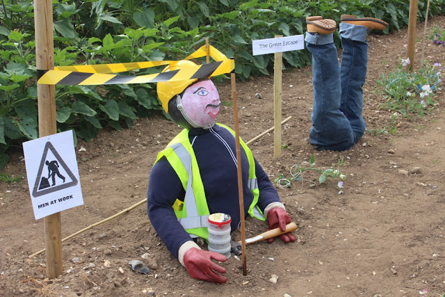The Great Escape scarecrow at Mr Fothergill's - apologies if I've given you an earworm