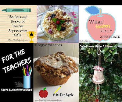 Blog With Friends, multiple bloggers each sharing a project. This month's theme: Teacher Appreciation | www.BakingInATornado