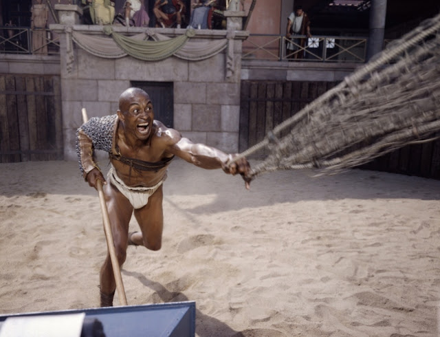 Rarely Seen Beautiful Color Behind the Scenes Photos of the Making Film Spartacus  vintage