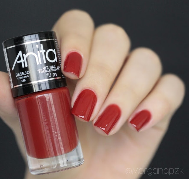 """Esmalte Vermelho """"Desejo"""" da Anita Cosméticos"""