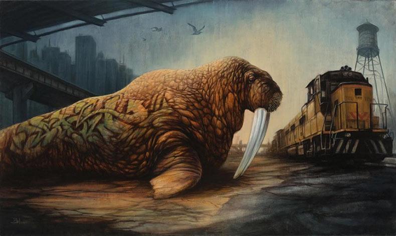 Pinturas post-apocalípticos que cuentan una verdad por Brin Levinson