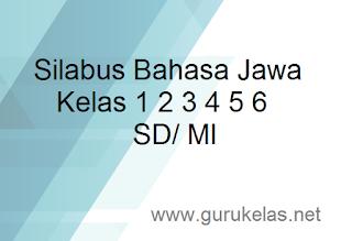 Silabus Bahasa Jawa Kelas 1 2 3 4 5 6 SD/ MI