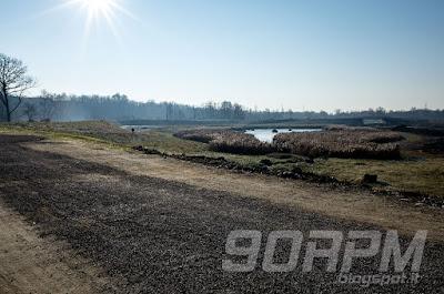 Parco del Lura in mtb: tra Lomazzo e Rovellasca è situata la recente area di laminazione del torrente Lura per la gestione delle piene.