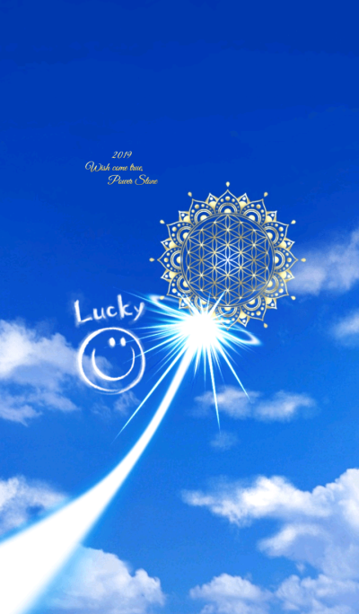 Lucky Smile & Flower of Life in the Sky2