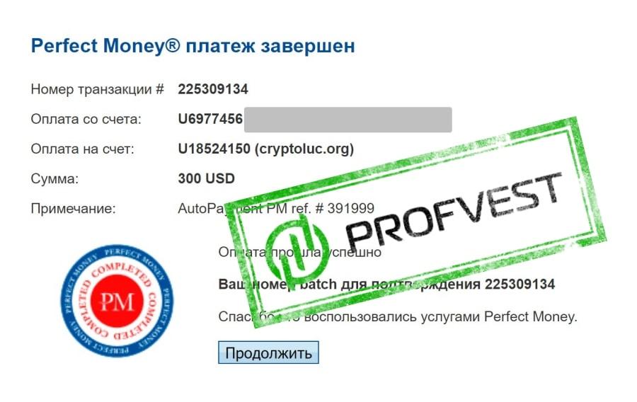 Наш вклад 8 в CryptoLuc