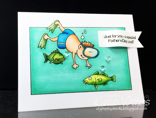 Hambo Stamps, Kecia Waters, Copic markers, Father's Day