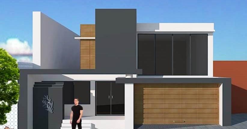 Fachadas de casas dise o de casa para terrenos inclinados for Disenos de casas actuales