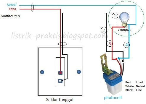 Cara Pasang Photocell Tanpa Bongkar Instalasi Saklar Listrik Praktis