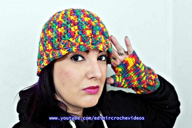 edinircrochevideos touca gorro chapéu inverno curso de croche facebook aprender croche