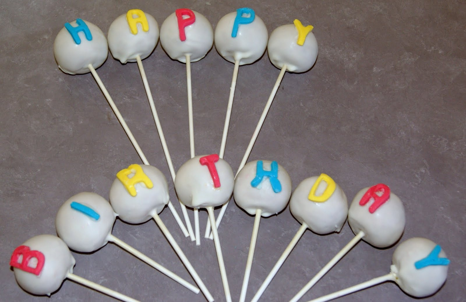 Happy Birthday Cake Pops