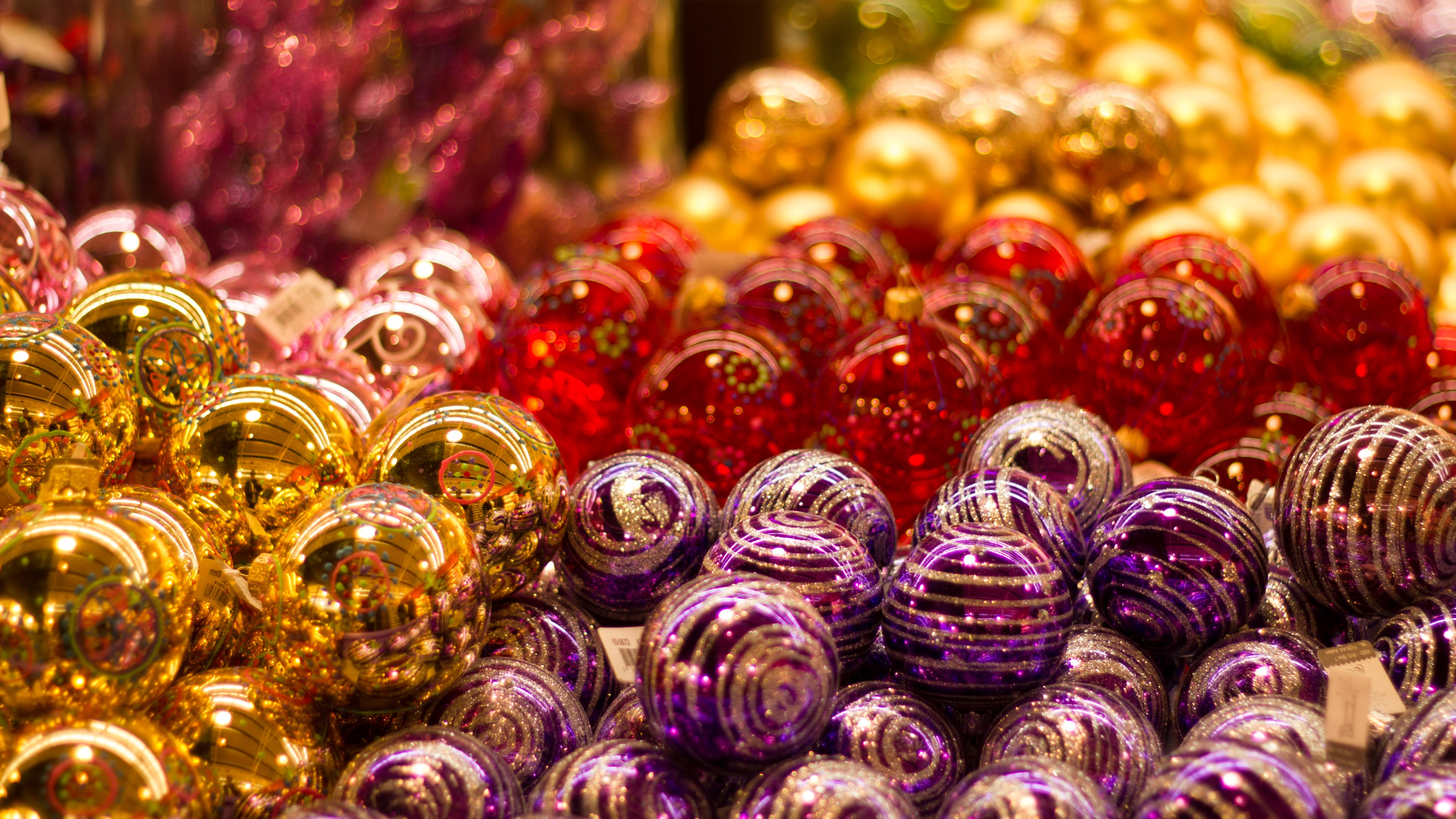 Christmas Balls | HD Wallpapers · 4K