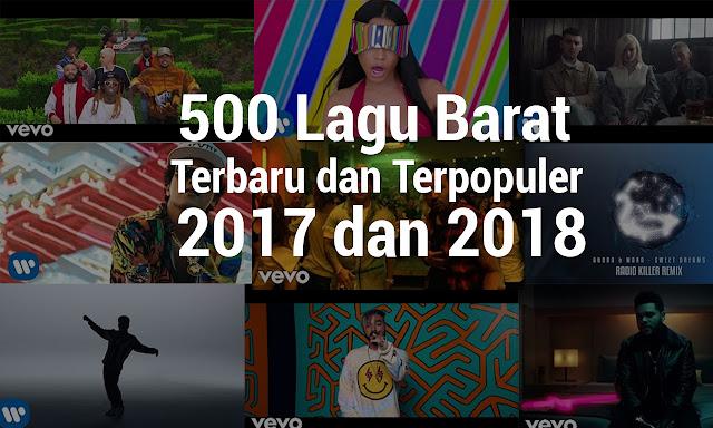 500 Lagu Barat Terbaru dan Terpopuler 2017/2018