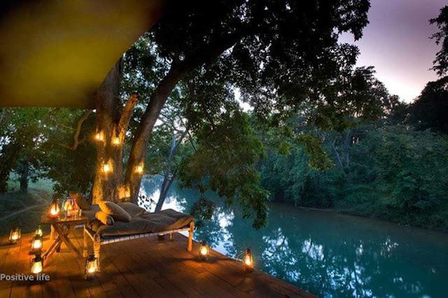 Suasana alam yang sunyi dan hening sungguh mendamaikan dan mententeraman hati dan jiwa