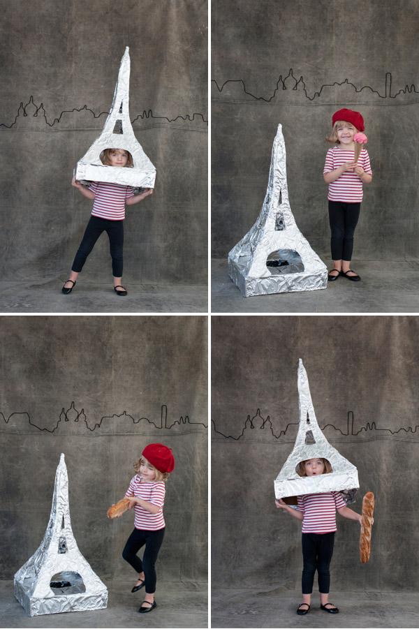 disfraz de torre eiffel para niña