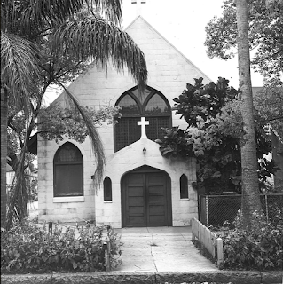 front of church building in 1950