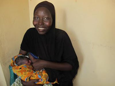 Woman who survived Boko Haram insurgency names her baby Kimar meaning 'Survivor' (photo)