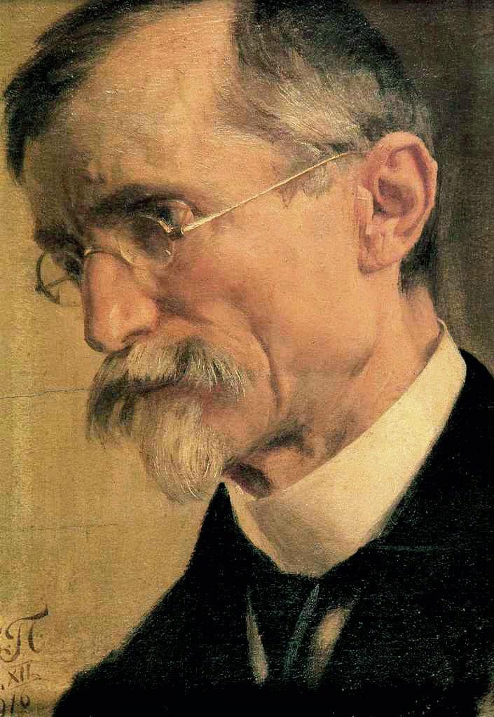 Uroš Predić, Self Portrait, Portraits of Painters, Fine arts, Painter Uroš Predić