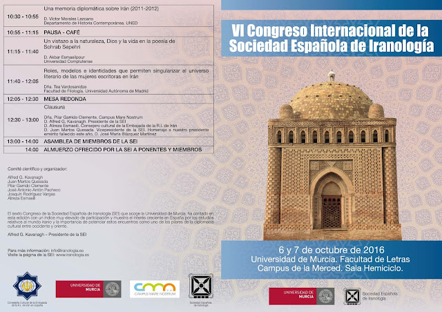 VI Congreso Internacional de la Sociedad Española de Iranología.