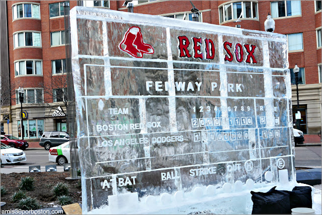 Esculturas de Hielo de la First Night de Boston: Red Sox