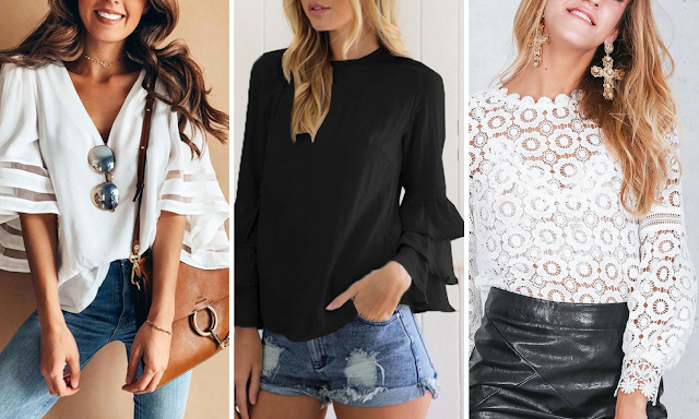 Bellalike big sleeve blouses