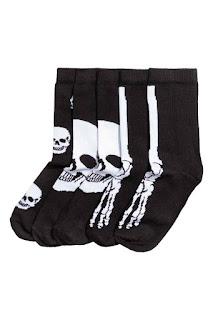 chaussettes squelette H&M