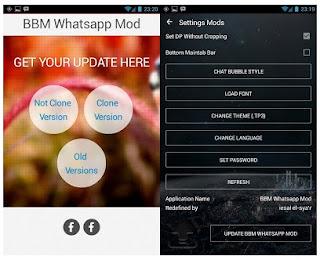 BBM Mod WhatsApp V3.0.1.25 Apk Support Clone