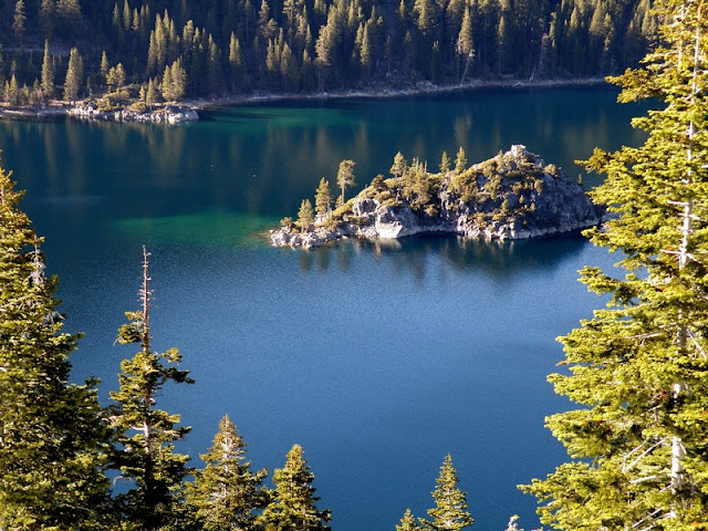 Small Island from Above at Lake Tahoe