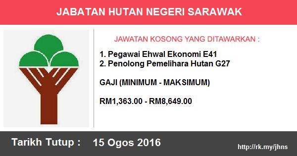 Jawatan Kosong di Jabatan Hutan Negeri Sarawak