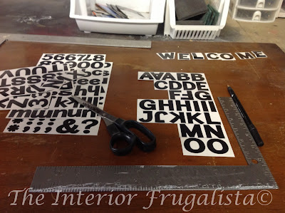 Self Adhesive Letters for Outdoor Welcome Sign Post