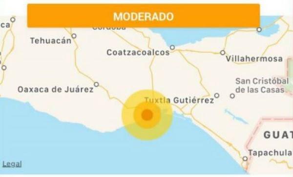 Se registro nuevo sismo de  5.0 grados en Salina Cruz, Oaxaca