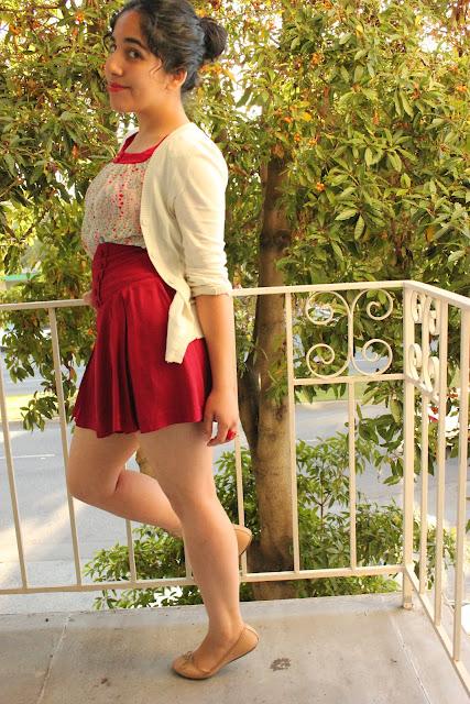 Forever 21 Red High Waist Skirt