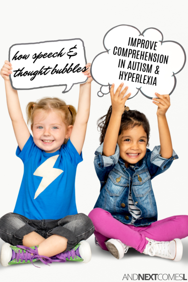 Reading comprehension strategies for hyperlexia - how books with speech and thought bubbles can help improve comprehension