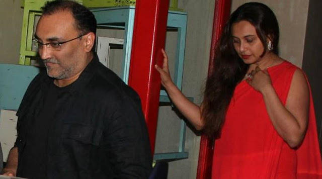Aditya Chopra and Rani Mukherji were spotted in Bandra last night