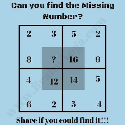 Easy Maths Brain Teaser to find the missing number