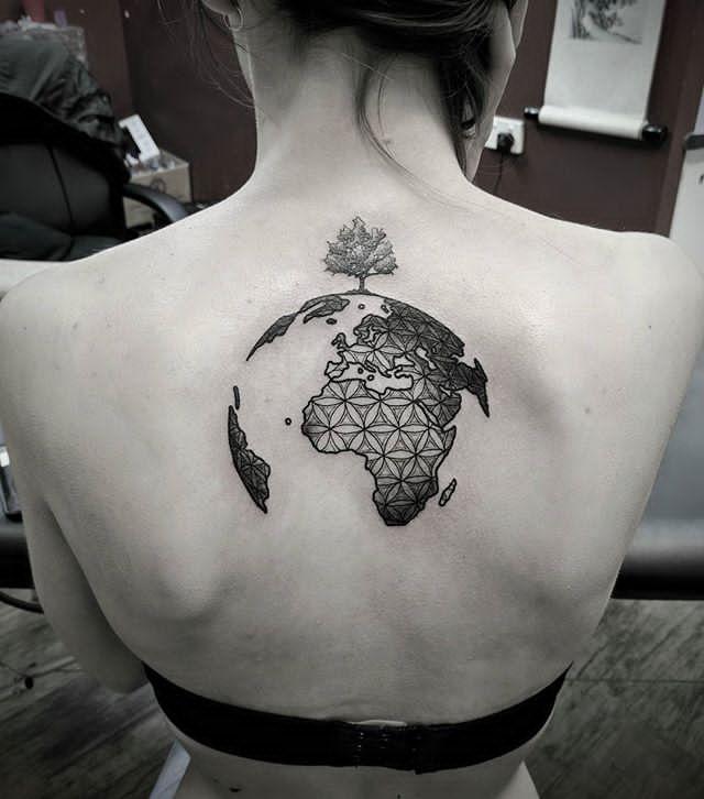 half eart tattoo design