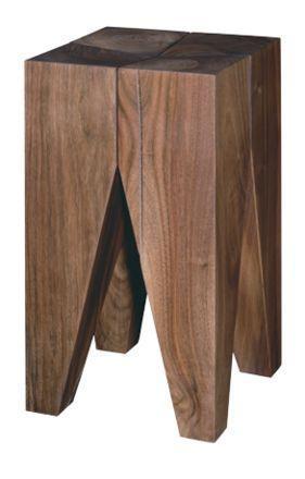 Taburete backenzahn de philippe mainzer arquitectura y for Taburetes de madera rusticos