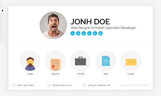 Top 10 Free Personal Vcard  Resume HTML Template ~ Info Looser - personal resume website example