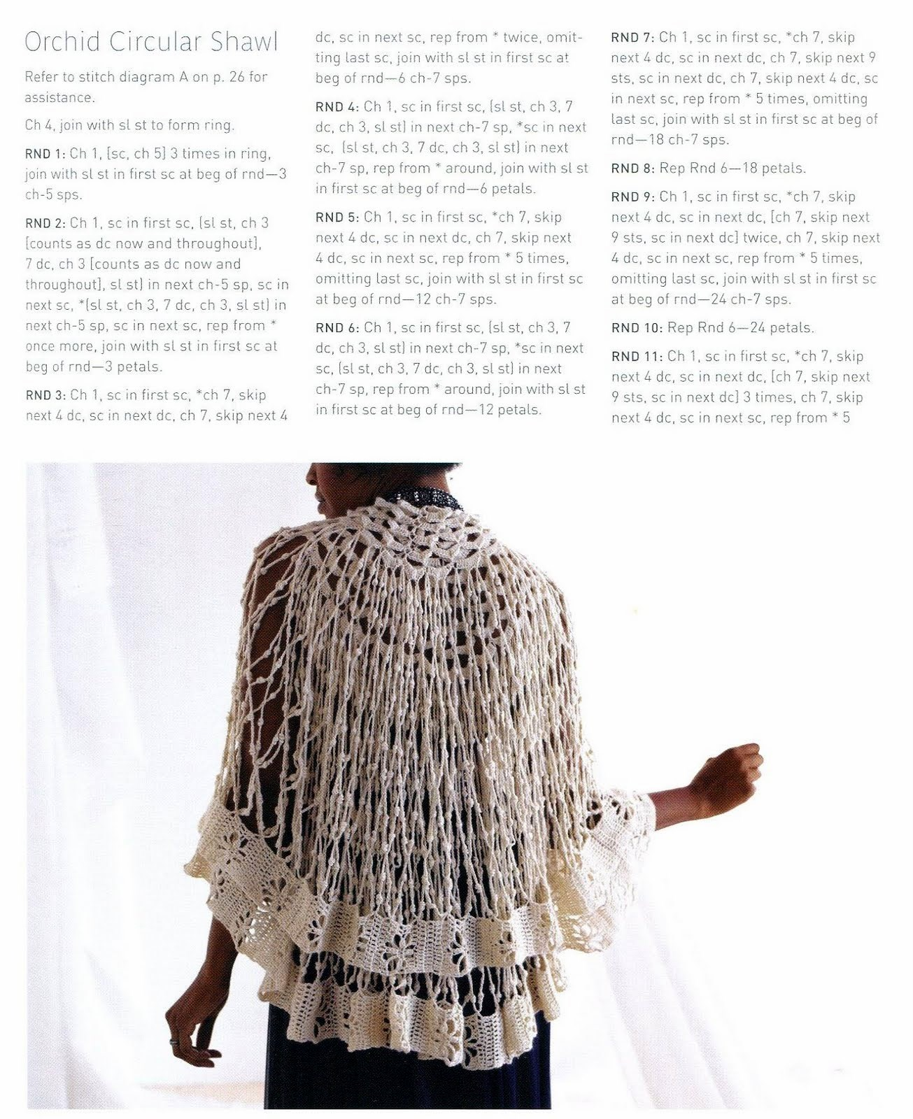 Free English crochet patterns| for free |crochet patterns for shawls| 12