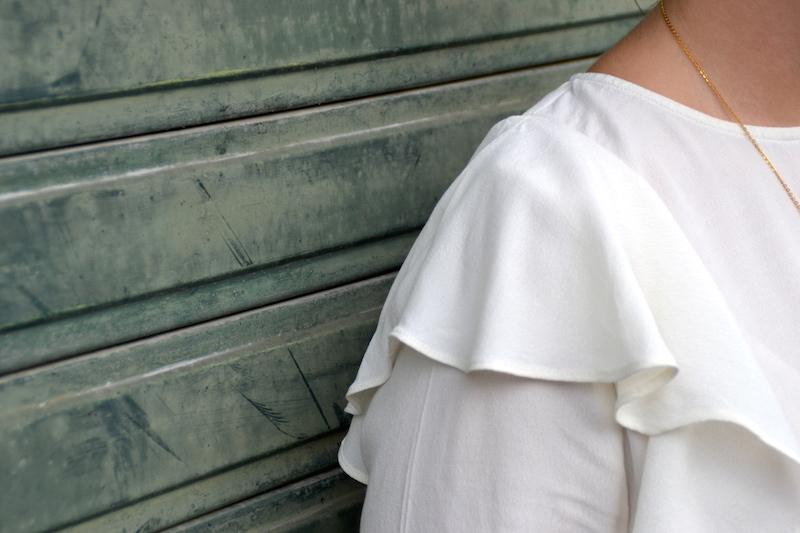 blouse a froufrou H&M