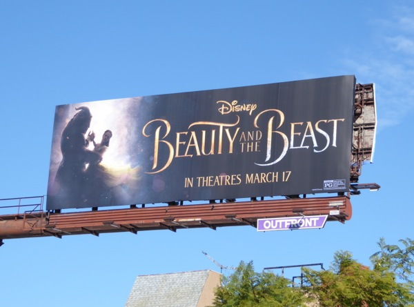 Disney Beauty and Beast live-action movie billboard