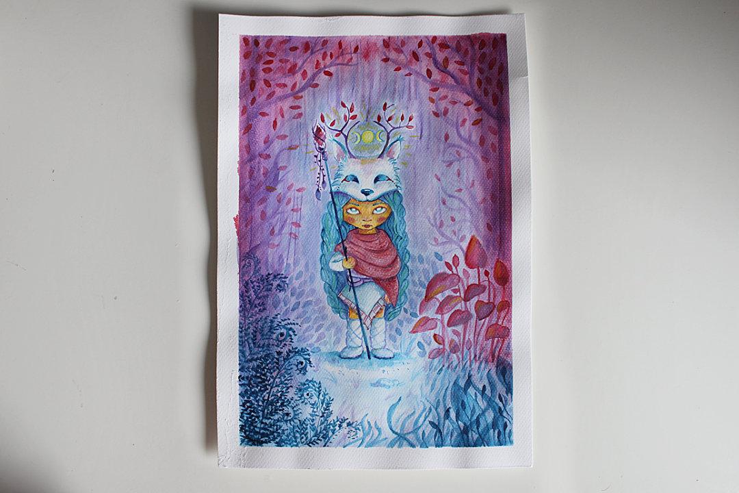 ilustracja dziecięca akwarela