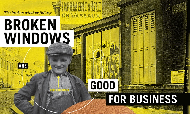 Image: Broken Windows are Good for Business #infographic