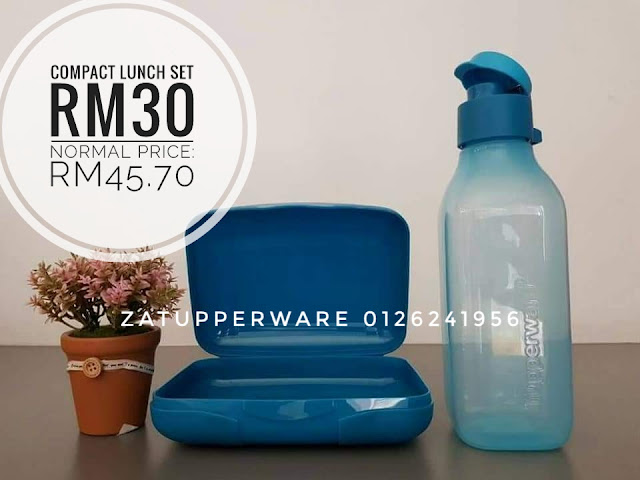 Tupperware Compact Lunch Set (Blue Set)