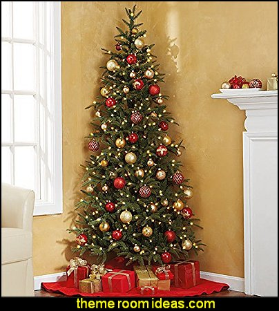 Corner Artificial Christmas Tree  North Pole Special Delivery Woven Polyester Lumbar Pillow