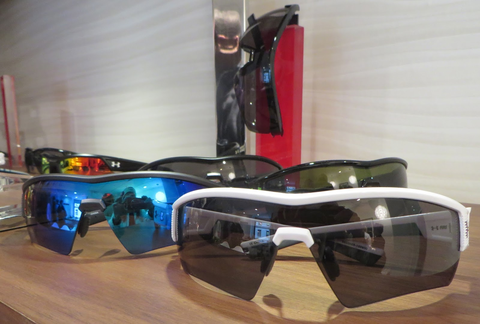 9c81af2f21 Under Armour s signature sunglass in the Core 2.0-a lot of color frame and  lens options-is diamond rated-w  three point grip w  adjustable nose pads  and ...
